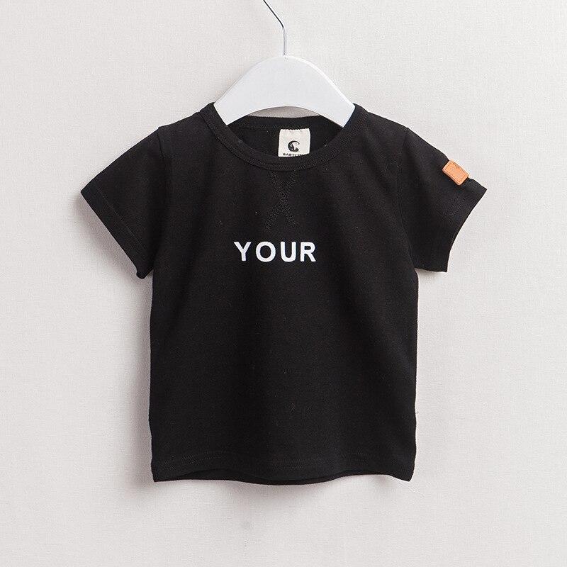 Kikikids children clothing boys kids cute your letter t for Dark denim toddler shirt