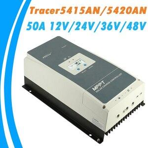 Контроллер заряда солнечной батареи EPever MPPT 50A, 12 В, 24 В, 36 В, 48 В, ЖК-дисплей с подсветкой для максимального входного тока 200 В, запись в реальном...