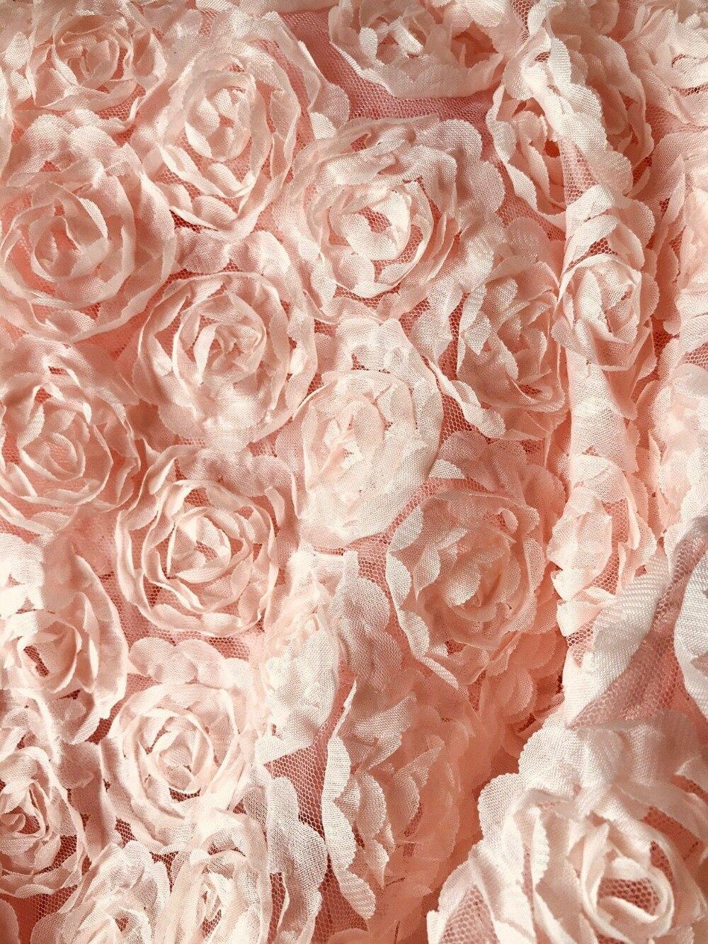 Us 208 20 Offtkanina Szyfonowa światło Różowa Róża Koronki Tkaniny 3d Koronka Z Motywem Kwiatowym Tkaniny Koronki Tkaniny Dekoracje ślubne