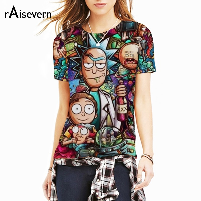 Raisevern Rick Morty 3D Print Cool T-shirt Men/Women Short Sleeve Summer Tops Tees Breatheable Cloth Dropship ...
