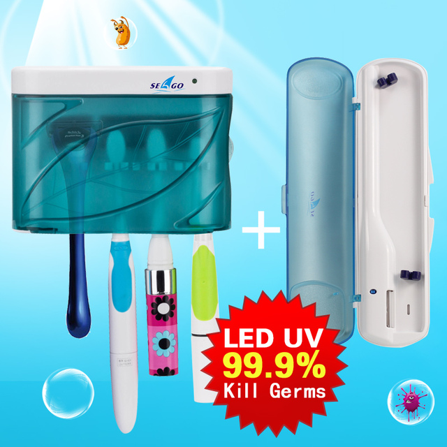 Best UV-C Toothbrush Sanitizer Kit Household Large Capacity sg-103a +Portable Travel sg-276 Smart Electric Toothbrush Sterilizer