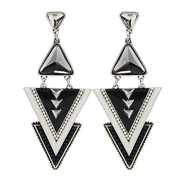 Triangle Ornamented Earrings Express Passion Reveal Your Soul