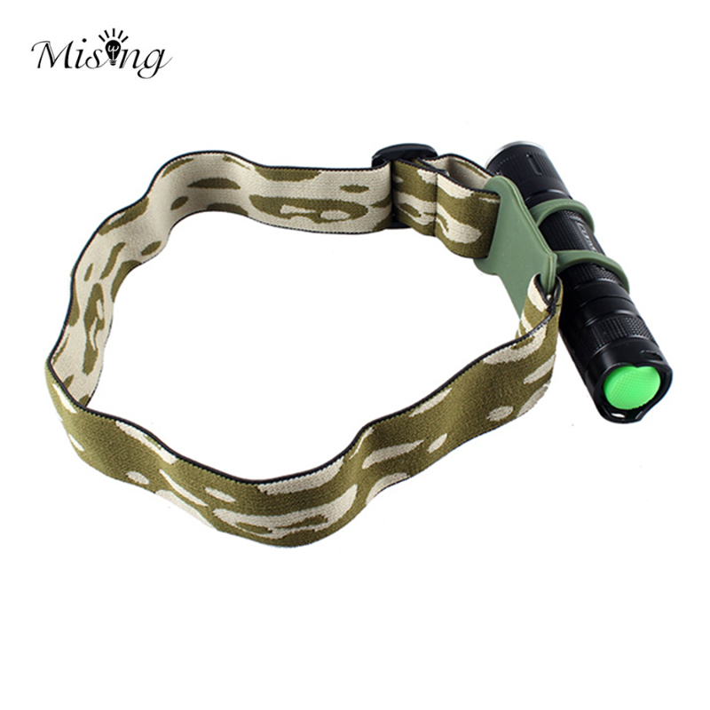 MISING Adjustable LED Flashlight Headband Fixed Strap Head Belt Outdoor Torch Headlamp Mount Holder For 22-30mm Flashlights