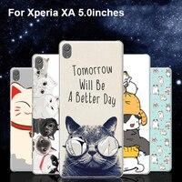 Ultra Ince Durumda Xperia Için XA F3116 Sevimli Karikatür Çiçek Peri kedi Telefon Kılıfları Için Geri Tam Kapak Sony XperiaXA F 3116 kabuk