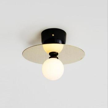 Nordic Loft Art Led Ceiling Lights Creative Copper Gold Study Aisle Bar Light Italy Designer Ceiling Lamp Free Shipping