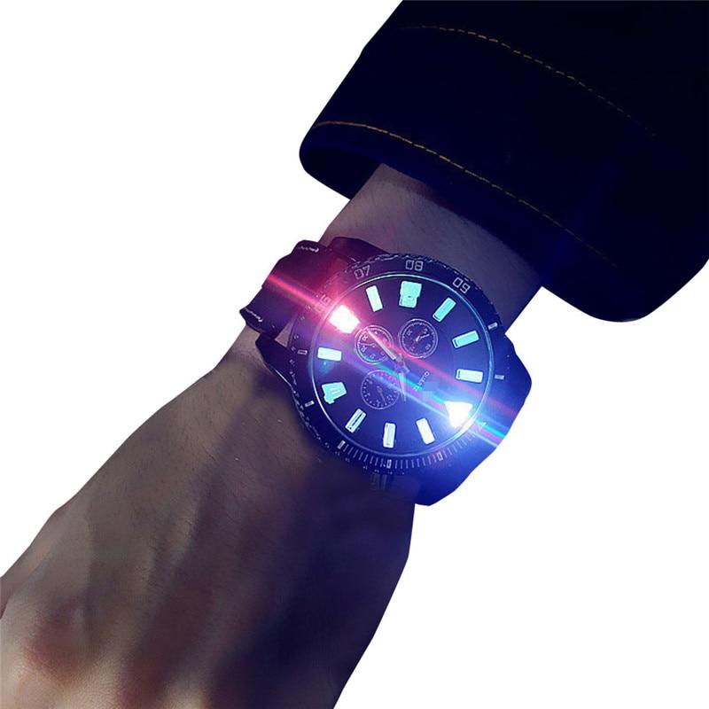2017 Luxury Fashion Unisex LED  Fashion Leather  Band Analog Quartz Vogue Watches blue shope#3005
