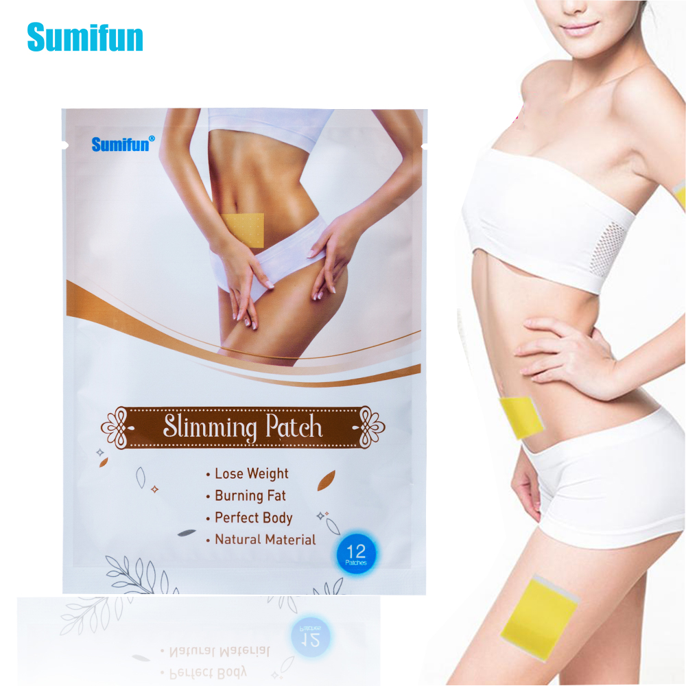 Sumifun Hot Sale Slimming Stick 12Pieces / Bags Slimming Navel Sticker 7*10 Cm Slim Patch Weight Loss Burning Fat Patch K03501