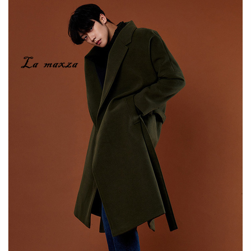 US $57.42 42% OFF|Plus Size 2018 Korean Style Loose Mens Long Coats  Overcoats Fashion Winter Dress Coat Mens New Arrivals-in Wool & Blends from  Men\'s ...
