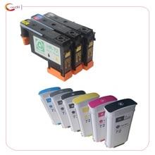 Восстановленные печатающая головка + картридж с чернилами для HP 72 Designjet T1100 T1120 T1120ps T1200 T1300 T1300ps T2300 T610 T770 T790 T795