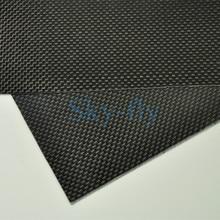 1sheet 0 3mm 100 Carbon Fiber plate panel sheet 3K plain Weave Glossy Hot Multi size
