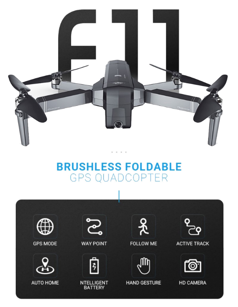 SJRC F11 GPS Drone With Wifi FPV 1080P Camera Brushless Quadcopter 25mins Flight Time Gesture Control Foldable Dron Vs CG033 7