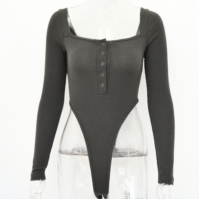 Black Off Shoulder Sexy Bodysuit 6