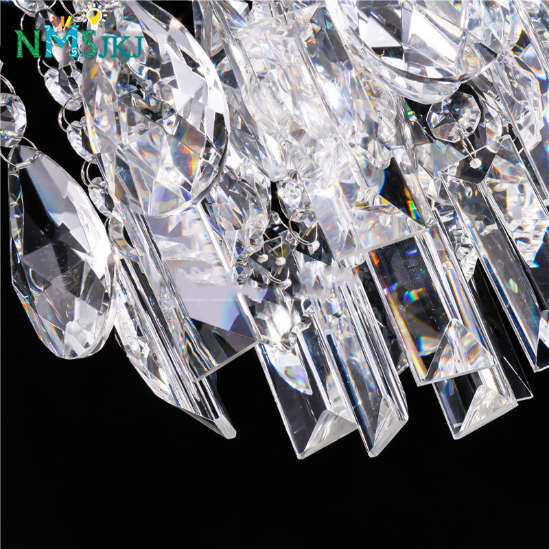 Contemporary Crystal Chandeliers Chrome Ceiling Lamp Fixture for Kitchen Girls Rooms Bedrooms Dining Room Bathroom
