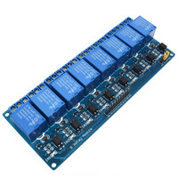 5V 8 Channel PLC Relay Module Optocoupler Board for Arduino PIC AVR 51 Single Chip