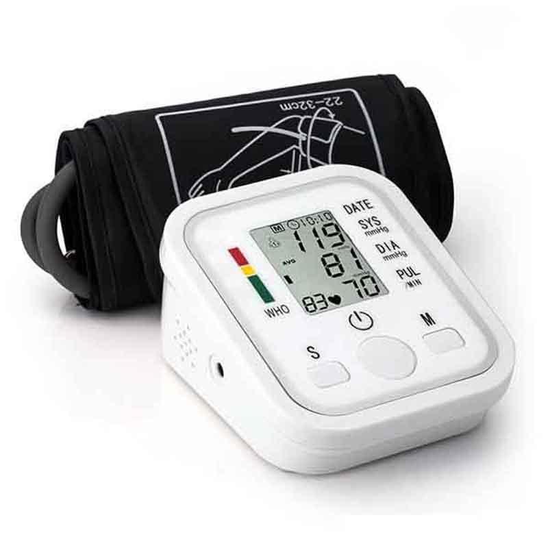 Heimnutzung Gesundheit Pflege Digitale Lcd Oberen Arm Blutdruck Monitor Herz Schlagen Automatische Meter Maschine Blutdruckmessgeräte pulsometer