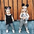 Kikikids Meninas Menina Calças Do Bebê Harem Pants Calças Listradas Maka Crianças Crianças Harem Pants Infantil Minúsculo Criança Calças de Algodão