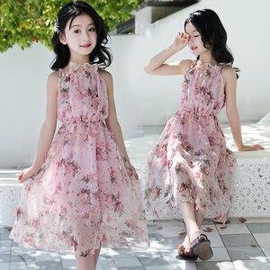 Image 5 - Letnia dziewczęca sukienka na ramiączkach na ramiączkach sukienki na plażę czeska sukieneczka dla dzieci Floral nastoletnie dziewczyny letnie ubrania 6 8 10 12 14 rok