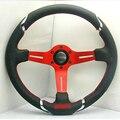 New Universal Fits Racing Sport 13047/350mm Suede Deep Dish Alloy Steering Wheel