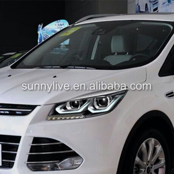 2013 2014 year for ford kuga escape led strip head lamps. Black Bedroom Furniture Sets. Home Design Ideas