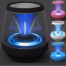 stereo Bluetooth Speaker Outdoor LED light Bicycle Portable Subwoofer Bass Power Bank