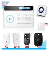 Free shipping Great Alarm S4 Etiger Alarm System LCD display GSM Alarm System Home Burglar Security Alarm System SMS APP Control