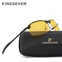 KINGSEVEN Polarized Sunglasses Men Women Night Vision Goggles Driving Glasses Anti Glare Safety Sunglass With Original