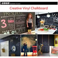 3colors Vinyl Chalkboard Wall Stickers Removable Blackboard Greenboard Whiteboard Whiteboard Sticker Paper 60CMx200CM With Gift
