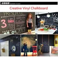 Adhesive Vinyl Blackboard Muursticker Verwijderbare 23.6X78.7 inch Krijtbord Stickers Kinderdagverblijf Schoolbord Keuken