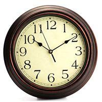 12-Polegada Rodada Clássico Relógio Retro Não Ticking Quartz Relógio de Parede Decorativos