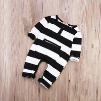 Autumn Winter New Cute Striped Baby Boys Rompers One Piece Long Sleeve Jumpsuits Cotton Newborn Infant