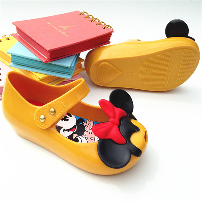 Mini Melissa 2018 Baby Shoes Girls Sandals Mickey&Minnie Kids Baby Shoes Princess and Jelly Shoes Party Sapato Infantil