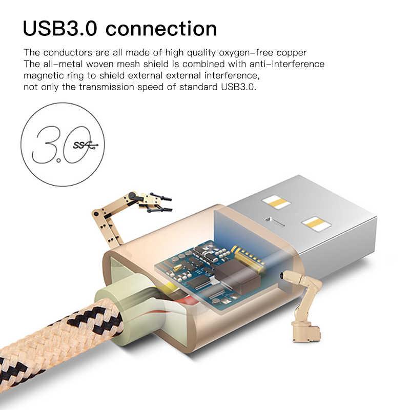 ¡! Cable de datos de carga USB ACCEZZ tipo C para Xiaomi 5 6 Samsung Gaxaly S8 S9 Plus Cable de carga para Oneplus línea de cargador rápido 6 5 T