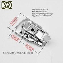 1PC 45*71mm KIMXIN woodencase hardware accessories with key locks #Equipmentcases #luggagecase #flightcase lock Freeshipping