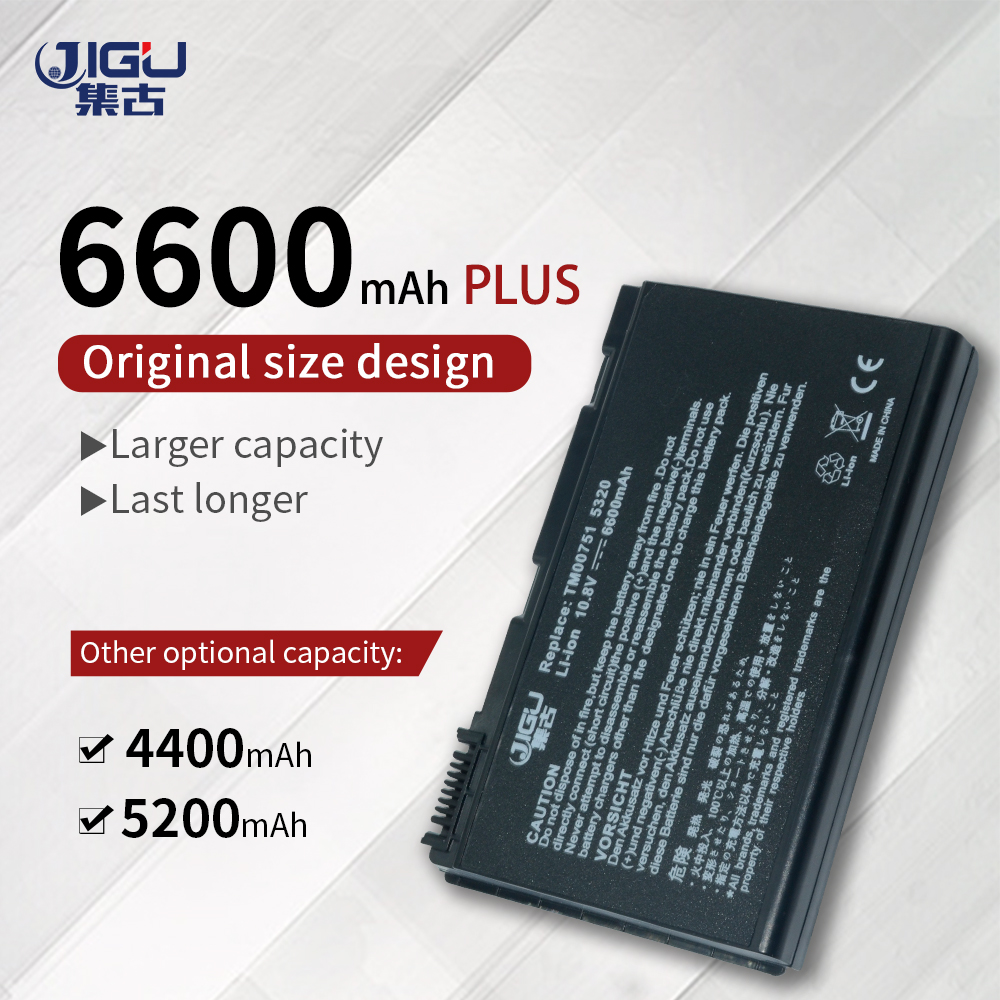 JIGU New 6 Cell Laptop Battery For Acer Extensa 5235 5420G 5620G 5630 <font><b>5630G</b></font> 7220 7620 7620G 5210-300508 5220 5220-100508 image
