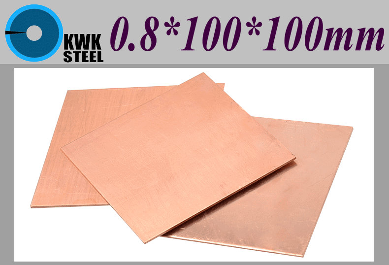 Copper Sheet 0.8*100*100mm  Copper Plate Notebook Thermal Pad Pure Copper Tablets DIY Material