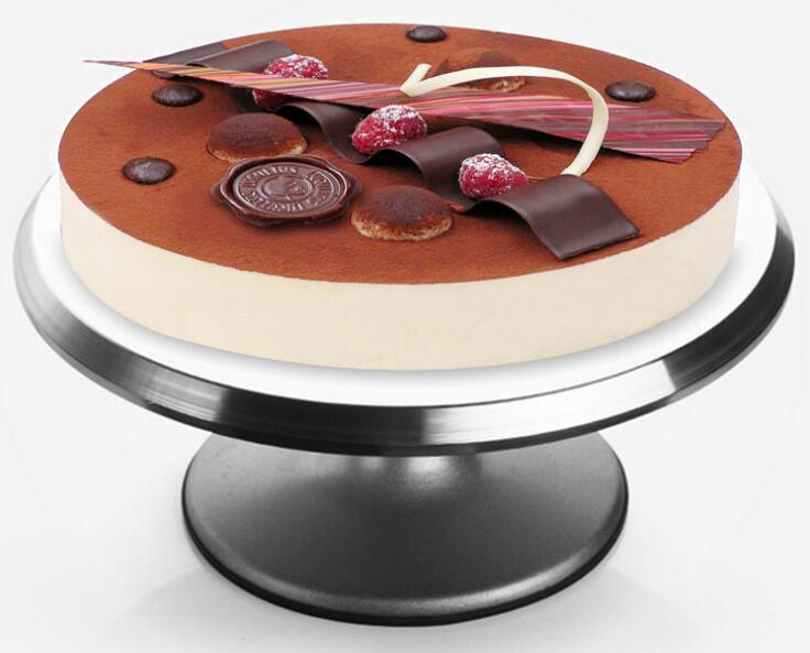 12 Inch Aluminium Cake Turntable Roterende Taart Decoreren Draaitafel Stand Taart Kwartelplaat Revolving Decoratie Stand