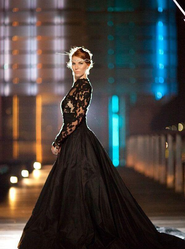 Black Wedding Dress With Train : Popular wedding dress black buy cheap lots from