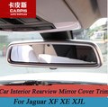 ABS Chrome Car Interior Rearview Mirror Cover Trim Sticker Car Accessories For Jaguar XF XE XJL Car Styling