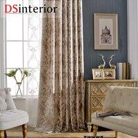 DSinterior Classic Design European Style Jacquard Blackout Curtain And Tulle Custom Made