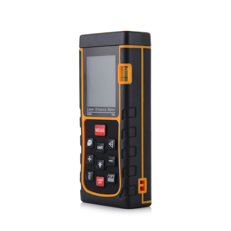 Digital Laser Distance Meter Bubble Level Rangefinder Range Finder Tape Distance/Measure Area/Volume M/Ft/in 70m 229F [randomtext category=
