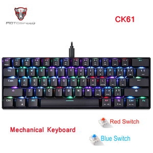 Image 2 - MOTOSPEED CK104 CK61 Russian English Mechanical Keyboard RGB Backlight Anti Ghosting Gaming keyboard For Teclado Game Computer