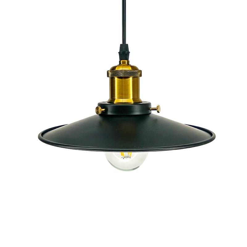Loft Warehouse vintage pendant lights iron lamp shads Decoration Black for font b bar b font