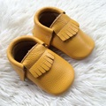 Leather Baby First Walkers,Genuine Leather Baby Moccs, Mustard Baby shoes