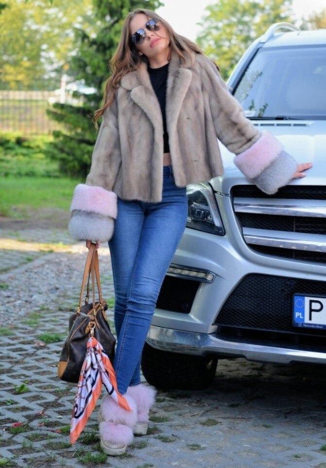 Fourrure 2018 Manteaux Type Avec Rose De Grey Régulier Court Réel Femmes En Mode Gros Manches Renard Dames Nouveau Manteau Usine Vison rqqpwIa