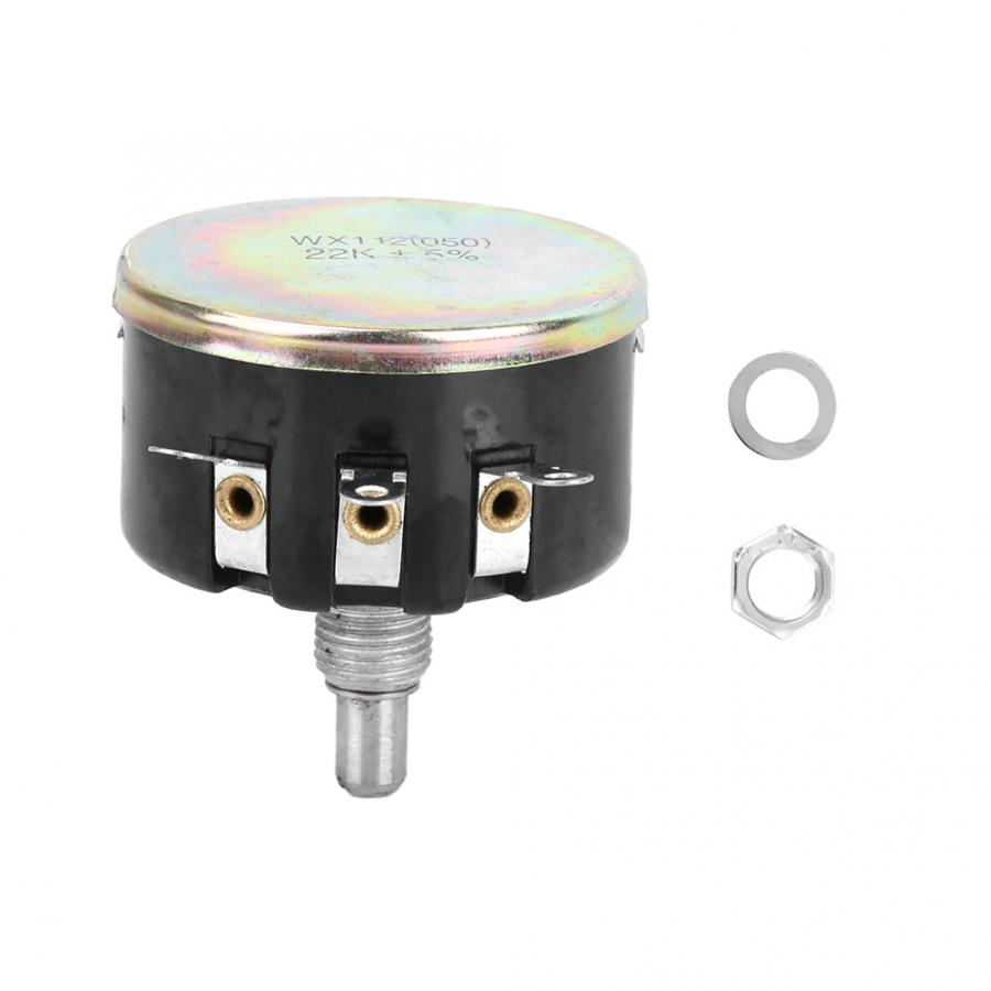 050 Adjustable Potentiometer Single Circle Turn Wire Potentiometer Spiral Wx112 4.7k Power 5w