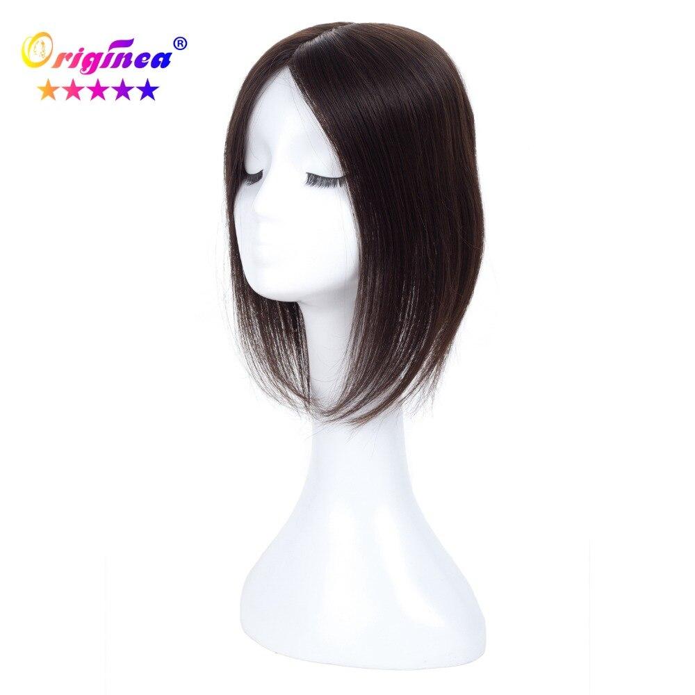Originea Femmes Toupet de Base Net Taille 13*15 cm Cheveux Longueur 30/40/50 cm 100% système Toupet Remplacement de Cheveux humains Naturel Couleur