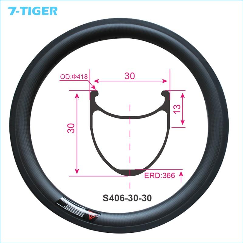 7 tiger New carbon bmx bicycle Rims 20 inch 30x30mm Clincher 406 Road Bike Full Carbon Fiber Wheel 3K/UD Matte|bicycle rim 20|carbon fiber wheels|bmx bicycle rims - title=