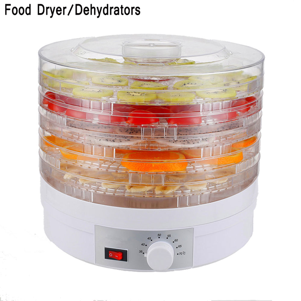 Food Dehydrator Fruit Vegetable Herb Meat Drying Machine Snacks Food Dryer Fruit Dehydrator with 5 Trays 110V/220V-240V 5 trays 245w food fruit dehydrator drying fruit machine home food dryer dehydrator with timing function and temperature control