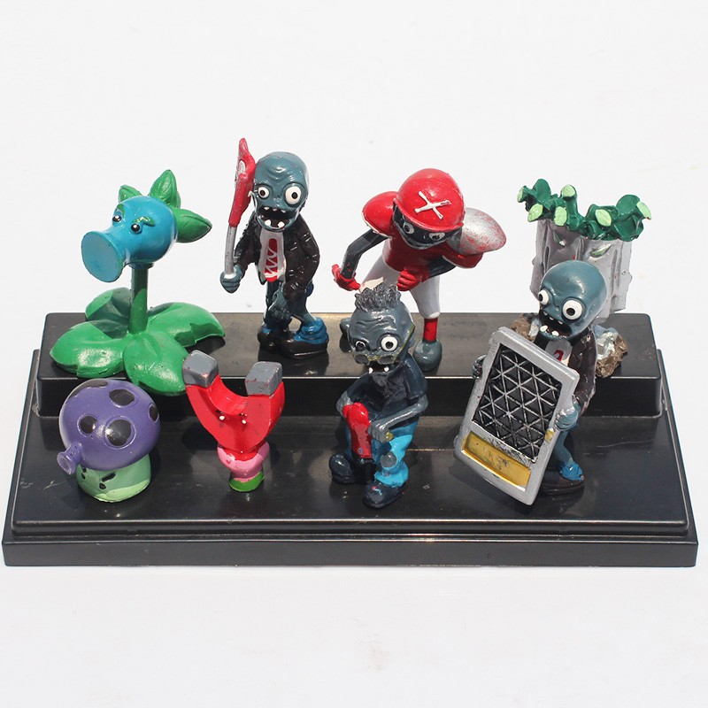 Free Shipping PVZ Plants vs. Zombies 2:Its About Time Mini PVC Action Figure Collection Toys Dolls 3-8cm 8pcs/set 2sets fixed side fk10 floated side ff10 ball screw end supports