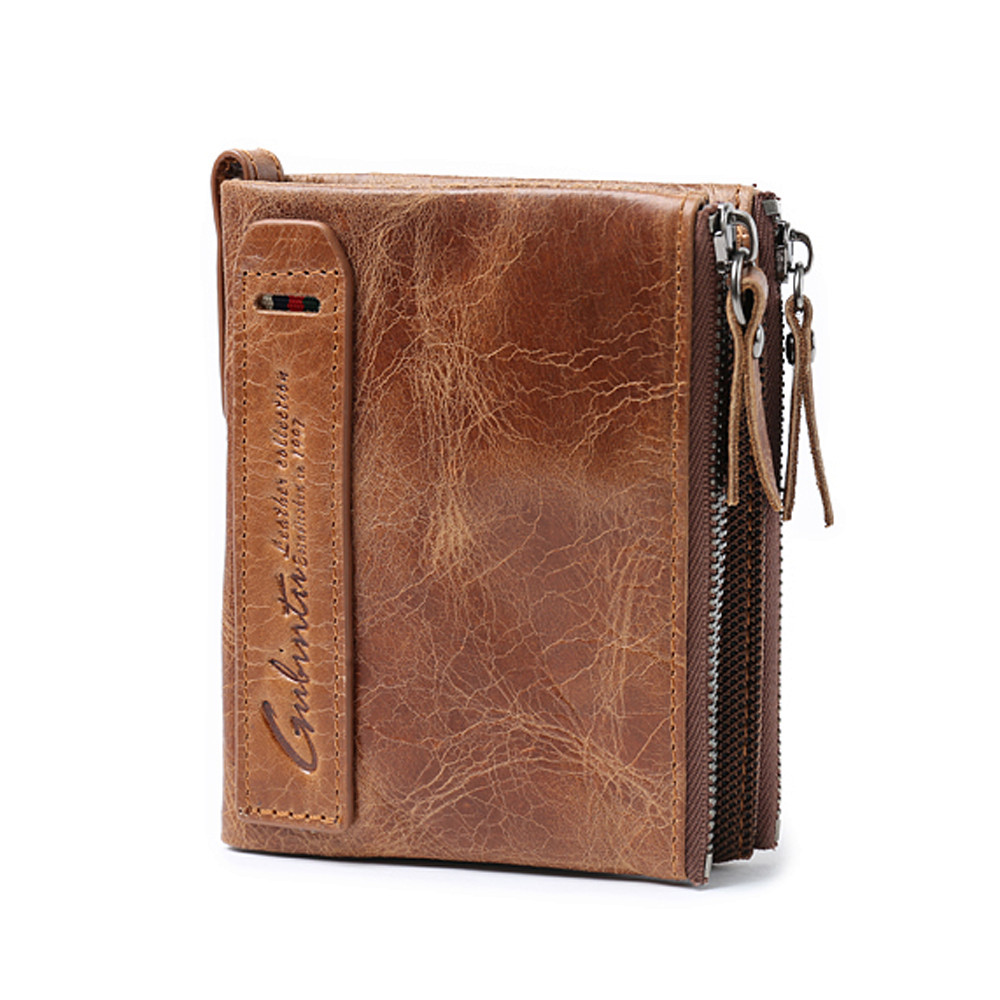 Men Leather Wallet ID Credit Card Holder Clutch Bifold Pocket Zipper Coin Purse